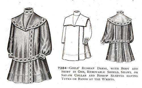 Girls' Russian Dress No. 7384