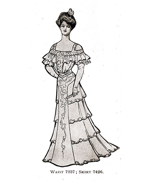 Evening Gown 7237/7426 for 1904