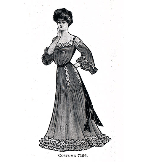 Evening Gown Costume 7196 for 1904