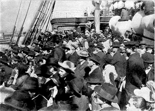 Steerage Passengers Eagerly Turned Their Eyes to the Statue of Liberty.