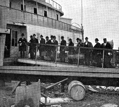 Immigrants Going Aboard the Narragansett.