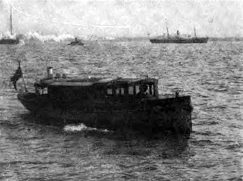 "The Launch ""Samoset,"" Used by Officials."