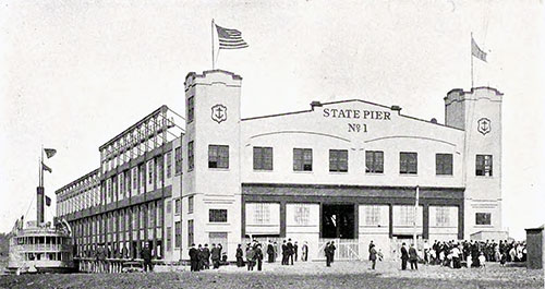 New Building on the Port of Providence State Pier in 1915.