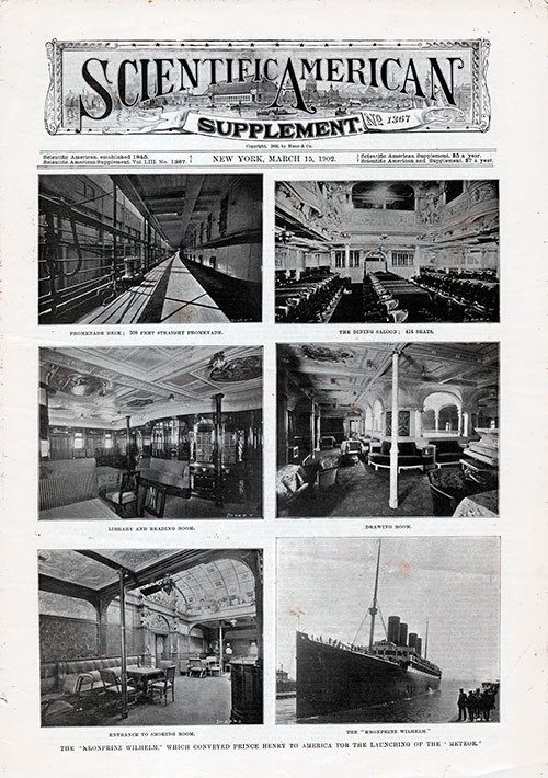 Front Page of the Scientific American Supplement No,. 1367 from 25 March 1902