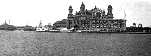 Government Building at Ellis Island, Just off the Battery in New York