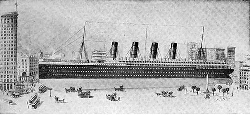 If Place on Broadway, The Lusitania Would Extend From Twenty-Third Street to Twenty-Sixth Street
