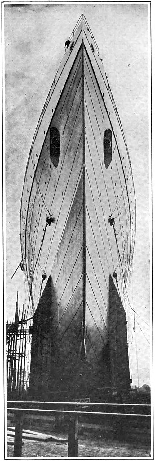 View of the Bow of the RMS Lusitania.