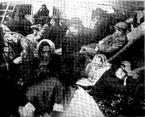Immigrants Driven Out from the Steerage While Between-Deck Cleaning Takes Place.