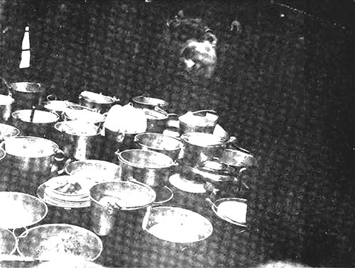 Jewish Steerage Passengers Engage in a Food Strike by Piling Their Dinner on the Deck in Protest Against Its Poor Quality.