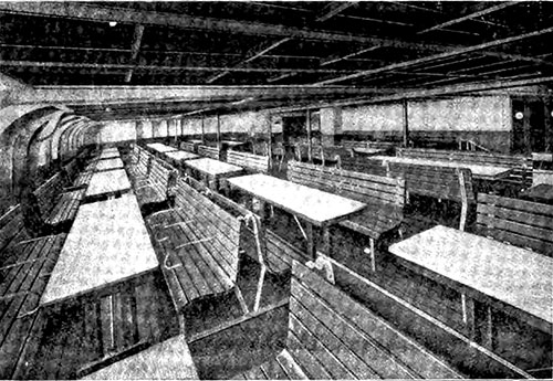 The Proper Way to Serve Meals in the Steerage -- Dining Room on Another Steamship Line -- The Ideal Condition.