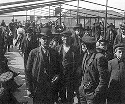 Immigrants Held Under Detention at Ellis Island.