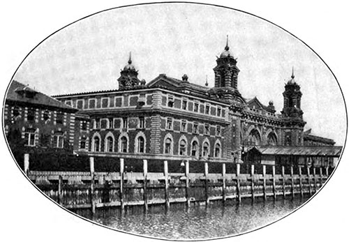 Main Immigration Building at Ellis Island.
