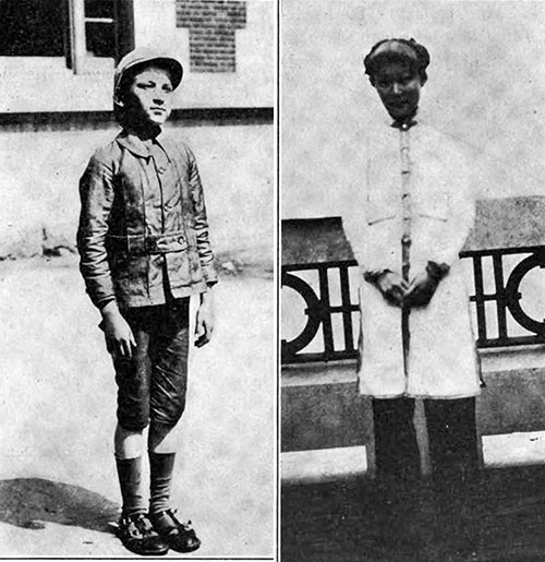 A Russian Jewish Boy, Just Landed (l) and A Chinese Girl in the Detention Quarters.
