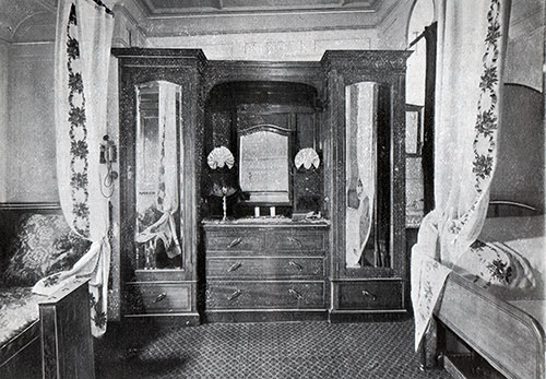 First Saloon Stateroom on the RMS Mauretania.