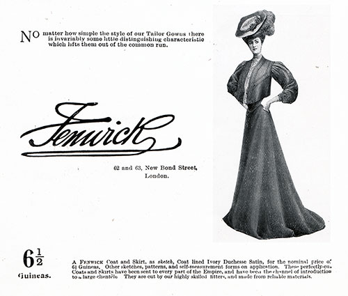 Fenwick of London - 1906 Fashion Advertisement