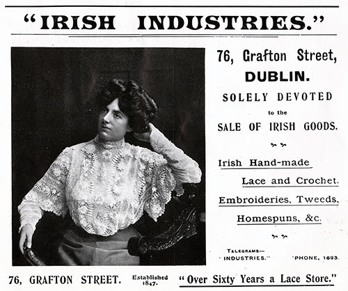 Irish Industries Advertisement from 1908