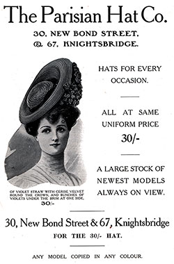The Parisian Hat Company - 1906 Vintage Fashion Ad