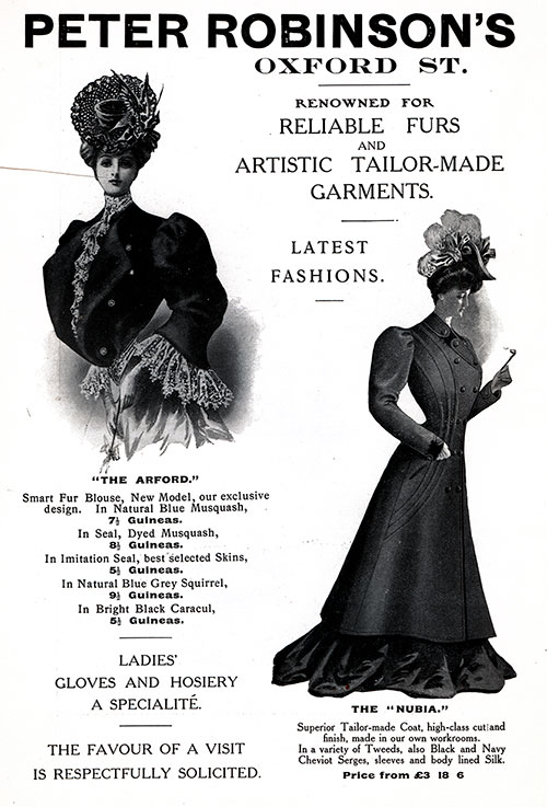 Peter Robinson's of London - 1906 Advertisement