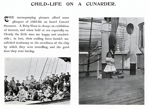 Child-Life on a Cunarder from the Cunard Daily Bulletin, RMS Ivernia Edition for Wednesday, 28 June 1905.