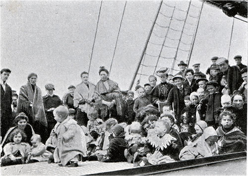 Immigrant Children on the Deck of a Cunard Steamer.