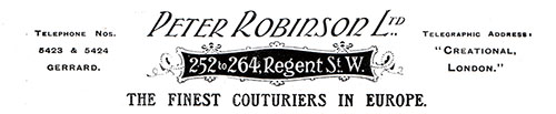 PeterRobinson Ltd. The Finest Couturiers in Europe