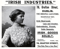 Irish Industries Advertisement from 1911