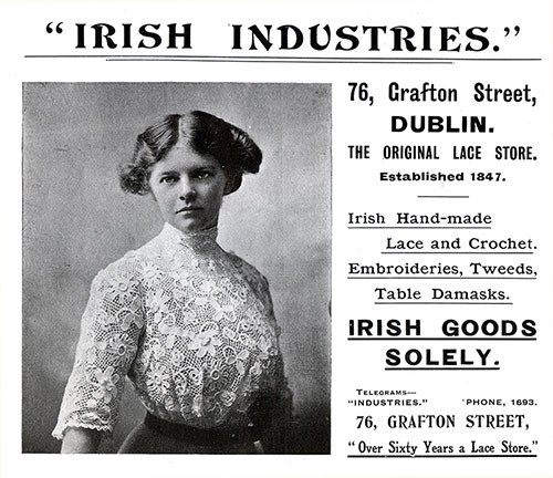 Irish Industries Advertisement from 1910