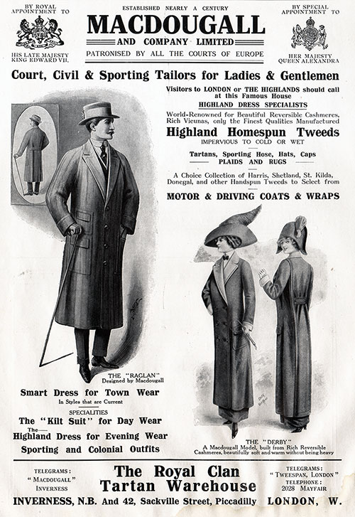 MacDougall - Court, Civil & Sporting Tailors for Ladies & Gentlemen