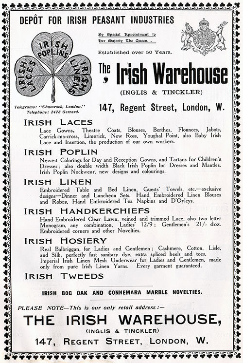 Inglis & Tinckler (Irish Warehouse) Fine Irish Linens