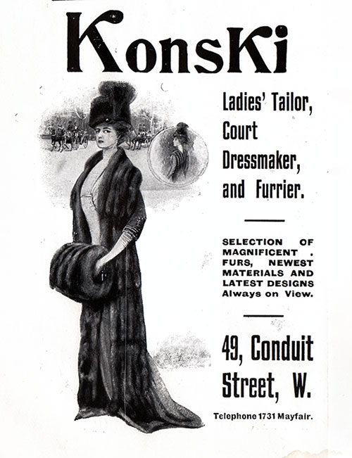 M. Konski – Furrier, Dressmaker, and Ladies' Tailor