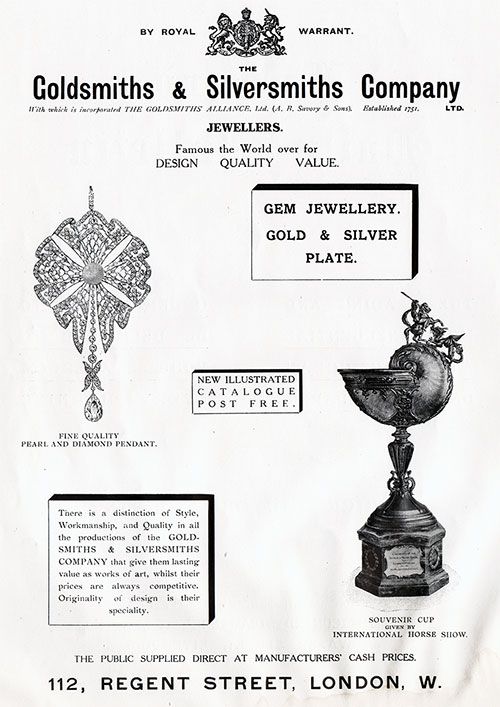 Goldsmiths & Silversmiths Company, Wedding Presents, Presentation Plate, Etc.