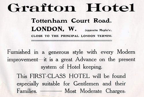 Grafton Hotel in London