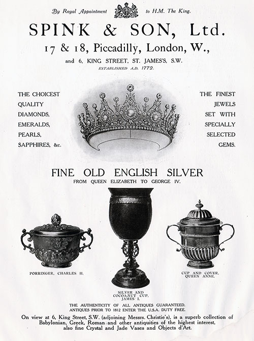 Spink & Son Fine Old English Silver