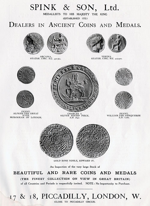 Spink & Son Dealers in Ancient Coins and Medals