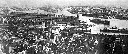 View of the Port of Antwerp from an Airplane in 1921.