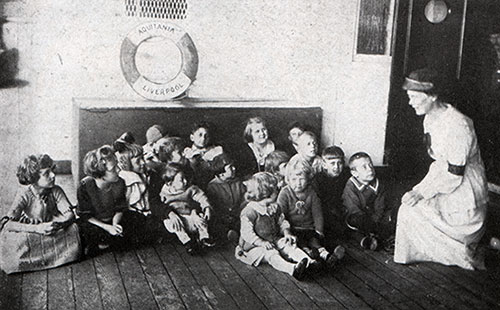 A Nurse on the RMS Aquitania - Story Telling for the Children.