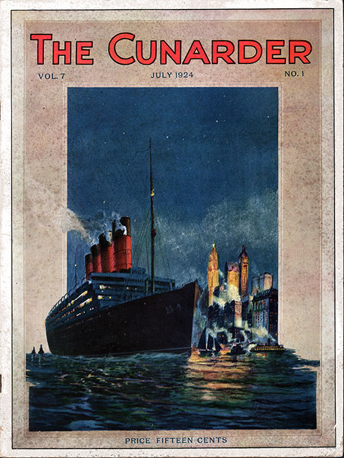 Front Cover of the Cunarder Magazine Mediterranean Special Issue for July 1934