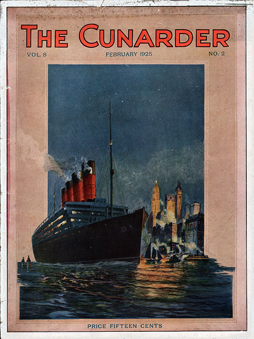 Front Cover of the Special Issue of The Cunarder for February 1925 Featuring England, Wales and the British Countryside