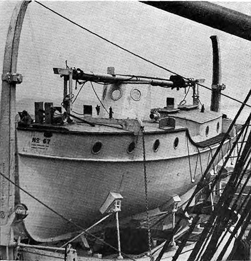 The SS Leviathan Carries Non-Capsizable Motor Lifeboats Equiped with Wireless.