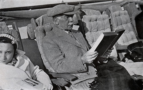 Otto Kahn Relaxes on the SS Bremen.