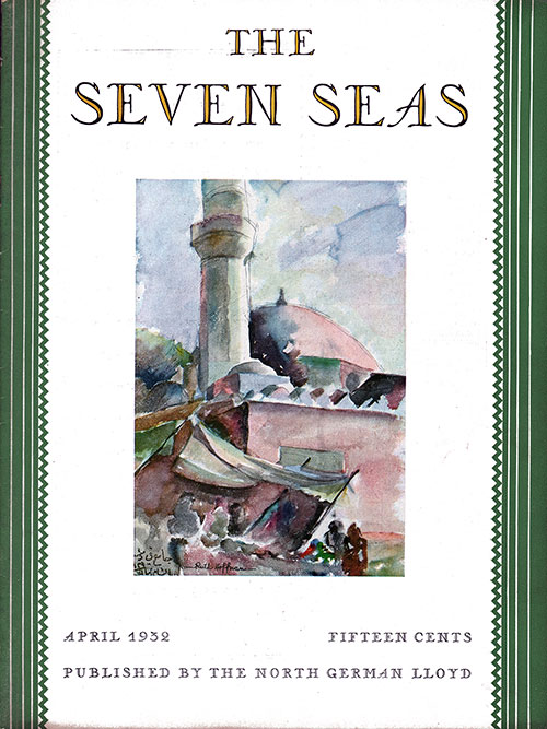 Front Cover, The Seven Seas Magazine for April 1932.