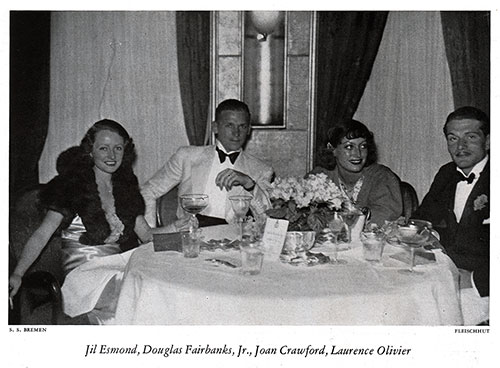 Dinner Table Guests on the SS Bremen
