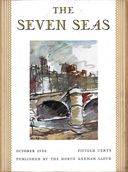 Front Cover, October 1932 Issue of The Seven Seas, Published by the North German Lloyd.