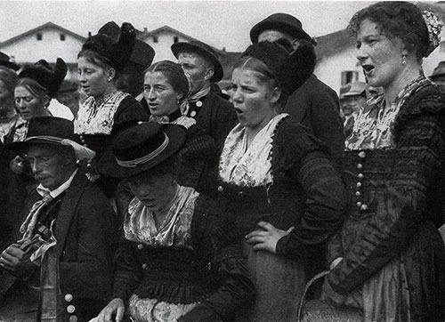 Choir from Bavaria in Costume.