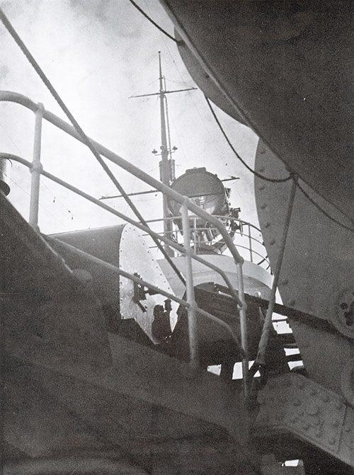 View of the Crows Nest on the SS Bremen