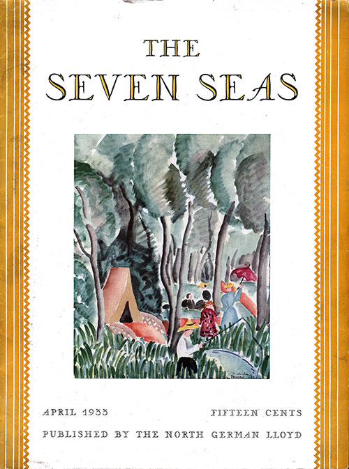 Front Cover, April 1933 Issue of The Seven Seas, Published by the North German Lloyd.