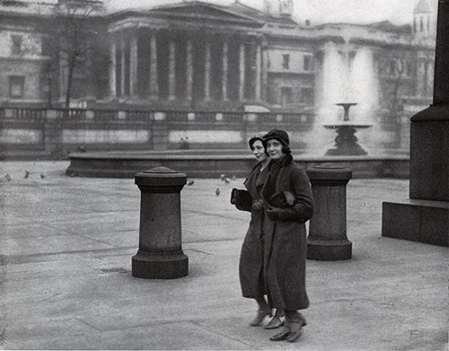 Women's Fashions on Trafalgar Square 1933.
