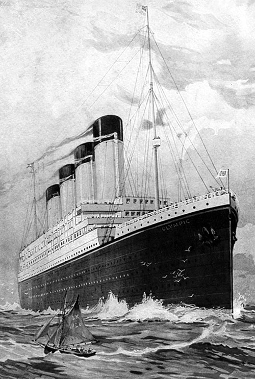 The White Star Triple-Screw Steamship Olympic. The Largest Vessel in the World.