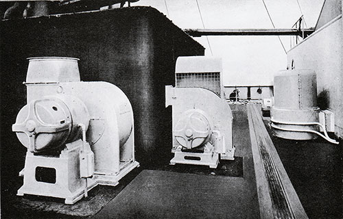 Fig. 120: Ventilating and Heating Fans on Boat Deck.