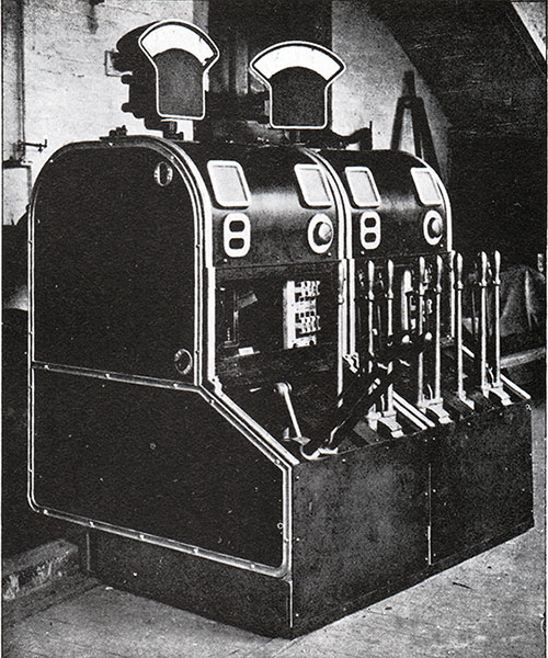 Fig. 125: Switch Gear of Dynamos 3 and 4